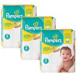 Pampers - Maxi mega pack 496 Couches Premium Protection taille 2 sur Couches Center