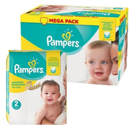 Pampers - Pack jumeaux 589 Couches Premium Protection taille 2 sur Couches Center