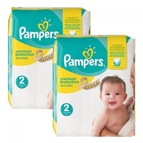 Pampers - Pack jumeaux 620 Couches Premium Protection taille 2 sur Couches Center