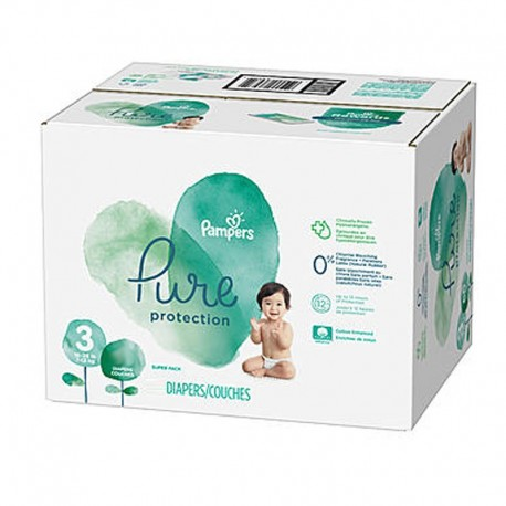 Pampers - Pack 66 Couches Pure Protection taille 3 sur Couches Center