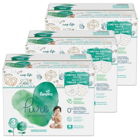 Pampers - Mega pack 154 Couches Pure Protection taille 3 sur Couches Center