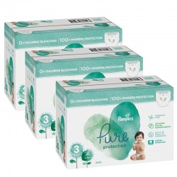 Pampers - Giga pack 242 Couches Pure Protection taille 3