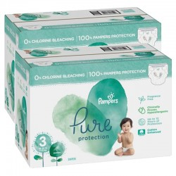 Pampers - Maxi giga pack 374 Couches Pure Protection taille 3 sur Couches Center