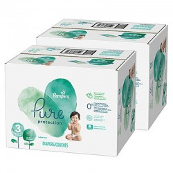 Pampers - Maxi mega pack 418 Couches Pure Protection taille 3 sur Couches Center
