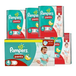 Pampers - Pack 60 Couches Baby Dry Pants taille 4 sur Couches Center