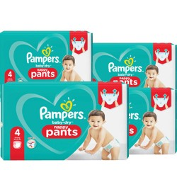 Pampers - Pack 90 Couches Baby Dry Pants taille 4 sur Couches Center
