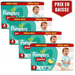 Pampers - Giga pack 210 Couches Baby Dry Pants taille 4 sur Couches Center
