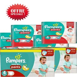 Pampers - Giga pack 270 Couches Baby Dry Pants taille 4 sur Couches Center