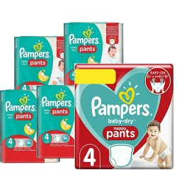 Pampers - Maxi mega pack 450 Couches Baby Dry Pants taille 4 sur Couches Center