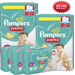 Pampers - Giga pack 250 Couches Baby Dry Pants taille 4+ sur Couches Center