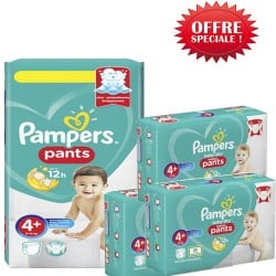 Pampers - Maxi mega pack 450 Couches Baby Dry Pants taille 4+ sur Couches Center
