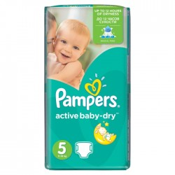 Pampers - Pack 22 Couches Active Baby Dry taille 5 sur Couches Center