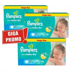 Pampers - Mega pack 154 Couches Active Baby Dry taille 5 sur Couches Center