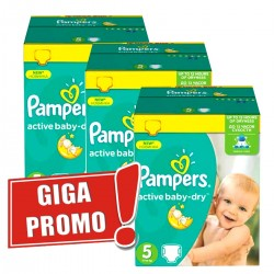 Pampers - Maxi giga pack 308 Couches Active Baby Dry taille 5 sur Couches Center