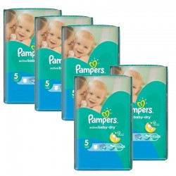 Pampers - Maxi mega pack 484 Couches Active Baby Dry taille 5 sur Couches Center