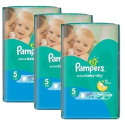 Pampers - Pack jumeaux 572 Couches Active Baby Dry taille 5 sur Couches Center