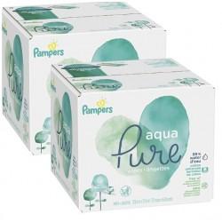 Pampers - 192 Lingettes Bébés Aqua Pure sur Couches Center