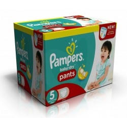 Pampers - 288 Couches Baby Dry Pants taille 5 sur Couches Center
