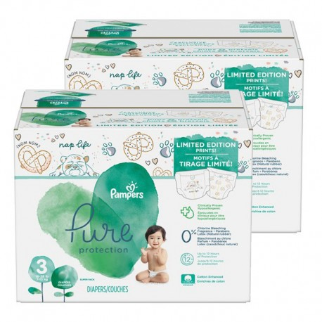 Pampers - Pack 88 Couches Pure Protection taille 3 sur Couches Center