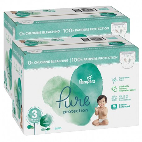 Pampers - Mega pack 132 Couches Pure Protection taille 3 sur Couches Center