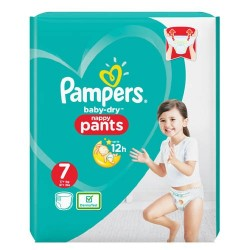 Pampers - Pack 29 Couches Baby Dry Pants taille 7 sur Couches Center