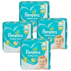 Pampers - Pack 63 Couches Baby Dry taille 7 sur Couches Center