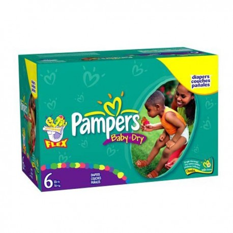 124 couches pampers baby dry taille 6 pas cher sur couches - Achat couches pampers en gros pas cher ...
