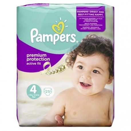 25 Couches Pampers Active Fit Taille 4 Moins Cher Sur Couches Center