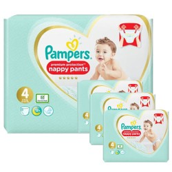 Pampers - Pack jumeaux 608 Couches Premium Protection Pants taille 4 sur Couches Center