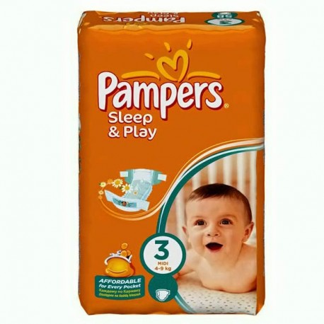 Pampers - Pack 78 Couches Sleep & Play taille 3 sur Couches Center