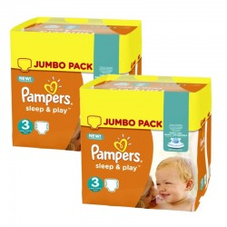 Pampers - Giga pack 234 Couches Sleep & Play taille 3 sur Couches Center