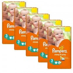 Pampers - Pack jumeaux 546 Couches Sleep & Play taille 3 sur Couches Center