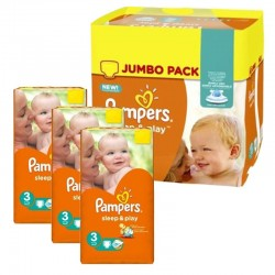 Pampers - Pack jumeaux 702 Couches Sleep & Play taille 3 sur Couches Center