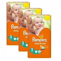 Pampers - Pack jumeaux 780 Couches Sleep & Play taille 3 sur Couches Center