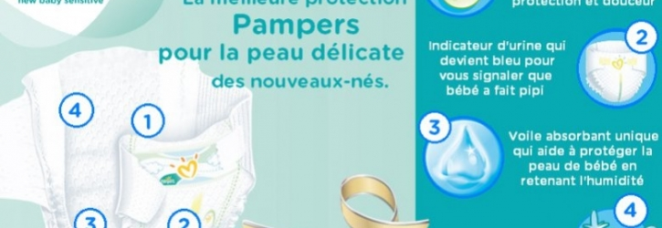 Pampers, une large gamme de couches.